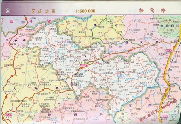 贵州省金沙县地图图片